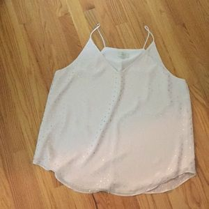 Pretty flowing cami with a little sparkle